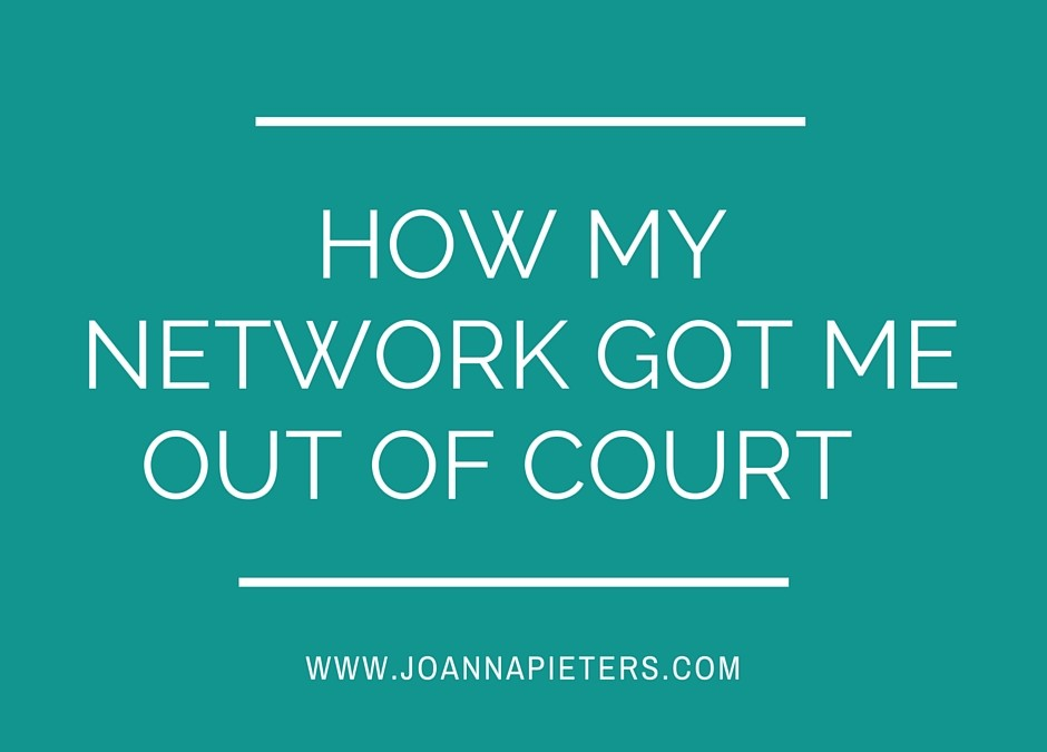 How my network (legally) got me out of court